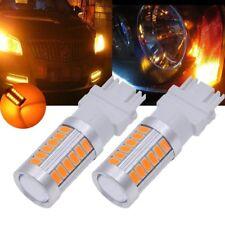 2Pcs Amber 3157 3457 3057 Signal 33SMD Backup Reverse Tail Turn  LED Light Bulb