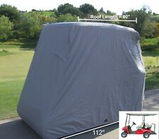 4 Passenger Golf Cart Cover, Fit EZ Go,Club Car,Yamaha Cart  Grey Storage Cover