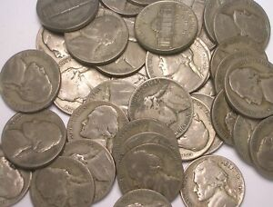 Lot of 40 (1 roll) 1943 P Wartime Nickel Silver Coins