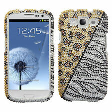Samsung Galaxy S III 3 Crystal Diamond BLING Hard Case Phone Cover Hottie