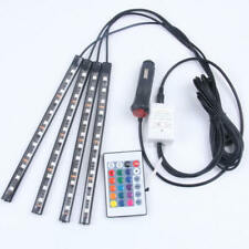 12V Car Interior RGB LED Strip Lights Foot Atmosphere Light Remote Control