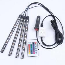 12V Car Interior RGB LED Strip Lights Foot Atmosphere Light Remote Control