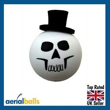 Skull Face Top Hat Car Aerial Ball Antenna Topper or use as a Dashboard Wobbler
