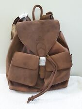 Leaderachi Buffalo Leather Backpack Brown