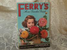 Ferry's original home garden brochure flowers & veg. 1856-1956  first 100 years