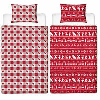 Mickey and Minnie Mouse Romance Christmas Duvet - Single - Double - King Size