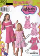 Pattern Simplicity Sewing Girl Lizzie McGuire Dress Sz 3-6 NEW