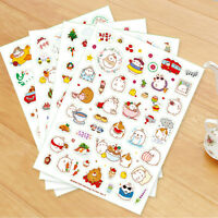 6 sheets Cartoon Stickers Scrapbook Calendar Diary Photo Planner Decoration New