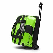 Pyramid Path Double Roller Bowling Bag (Black/Lime Green)