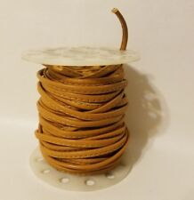 Tan Light Brown Genuine Stitched Leather Jewelry Cord Spool 4mm x 15 Yards