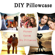 Personalized Photo Pillowcase Cover Cushion Case 4 Pictures Family Custom Gifts