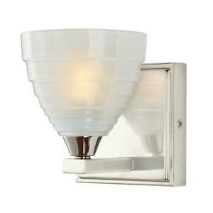 Home Decorators Collection Bovoni 1-Light Polished Nickel Wall Mounted Light