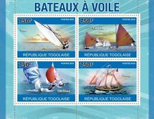 Sailing ships Yawl Catboat Deriveur Sloop Togo 2010 m/s MNH Mi.3739-42 #TG10417a