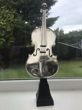 Large Black & Silver Violin Musical Ornament