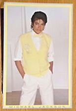 "Near Mint Original 1983 Classic Michael Jackson Poster:  - Yellow Vest - 35x23"""