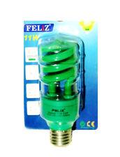Lámpara Bombilla espiral E27 VERDE de bajo consumo