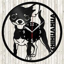 Chihuahua Dogs Vinyl Record Wall Clock Decor Handmade 1475