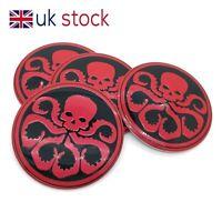 4x 56mm Hydra Skull Aluminum Car Wheel Rim Centre Hub Caps Sticker Emblem Decal
