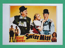 ACTORS  -  POSTER  PHOTOGRAPH  -  LAUREL  &  HARDY  -  SWISS  MISS   (B)