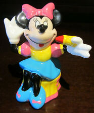 RARE Disney Enesco Minnie Mouse Salt or Pepper Shaker Ceramic Porcelain Figure