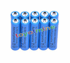 10x AAA 1800mAh 1.2V Ni-MH 3A Blue Color Rechargeable Battery Cell