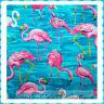 BonEful Fabric BT2Y Cotton Flamingo Florida Beach Scenic Water Flower Pink Bird