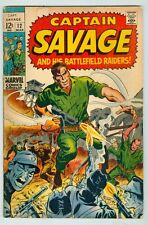 Captain Savage and his Battlefield Raiders #12 March 1969 G/VG