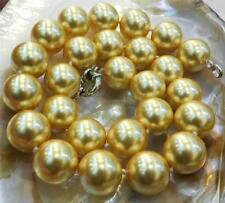 """16mm Golden South Sea Shell Pearl Necklace 18"""" AAA+"""
