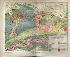 Geologische Karte Ruhrgebiet.Geologische Karte In Antiquarische Bucher Gunstig Kaufen Ebay