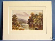 MUCKROSS LAKE KILLARNEY MUNSTER IRELAND RARE VINTAGE DOUBLE MOUNTED PRINT 10 X 8
