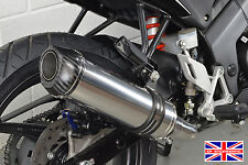 Honda CBR125R 04-10 Diabolus Polished Stainless Round XLS Carbon Outlet Exhaust