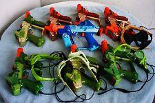 Tiger Electronics Lazer Tag 8 Gun & 4 Goggle Set Lot, Laser tag Gun