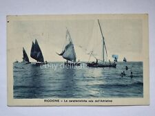 RICCIONE barca vela sailing boat riviera Rimini vecchia cartolina