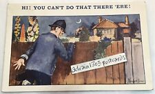 "1930s STOCKER SHAW POLICEMAN TORCH NIGHT/ Saucy ""You Can't Do That There 'ere!"""