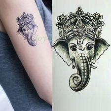 Waterproof Temporary Tattoo Sticker Ganesha Elephant Water Fake Tatto_Wknius