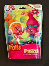 Puzzle on the Go Trolls 48pcs Resealable Bag Jigsaw Puzzle