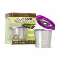 ECO-Flow Stainless Steel Refillable Reusable Coffee Pod Capsule K-Cup for Keurig