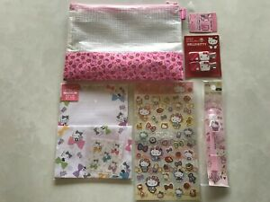 SANRIO JAPAN HELLO KITTY 5 PIECE STATIONERY SET WITH TRACKING