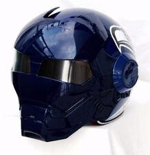 New 2020 Masei Iron Man Motorcycle Half Open Face Flip-up Helmet Blue Seagull