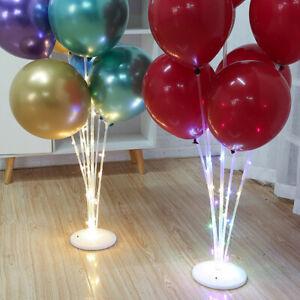 Balloon Stand Holder Set LED Light Base Table Support Xmas Wedding Party Decor