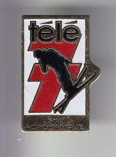 RARE PINS PIN'S .. OLYMPIQUE OLYMPIC ALBERTVILLE 1992 PRESSE TV 7 SKI ACRO ~17