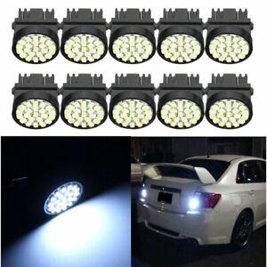 50x 3157 T25 White 22-SMD Car LED Bulbs Brake Tail Stop Parking Light 3057 3457