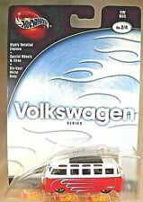 2002 Hot Wheels 100% Volkswagen Series 2/4 VW BUS Red Variation w/Real Rider 5Sp