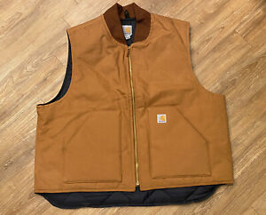 Mens CARHARTT Vest Quilted Interior Size 2XL