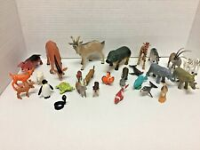 Lot of 28 Toy Animal Figures Various Sizes and Manufactures VGC