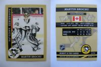 2015 SCA Martin Brochu Pittsburgh Penguins goalie never issued produced #d/10