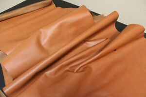 Tan Brown Cowhide Leather   8 SqFt Full Grain Cowhide Leather / 2.5 oz - 3.0 oz