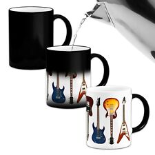 Electric Guitar Collection Novelty Music Heat Colour Changing Gift Mug