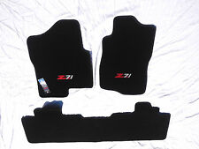 Chevy Avalanche Black Carpet Fit Floor Mats 3Pc with Z71 Logo on Fronts 2007-14