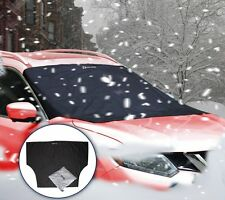 Zento Deals Reversible Auto Windshield Snow Cover Tarp Ice Frost Sun Protector